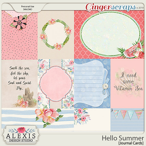 Hello Summer - Journal Cards
