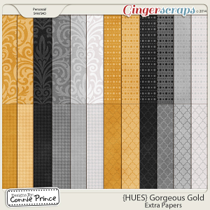 {HUES} Gorgeous Gold - Extra Papers