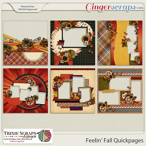 Feelin' Fall Quickpages by Trixie Scraps Designs