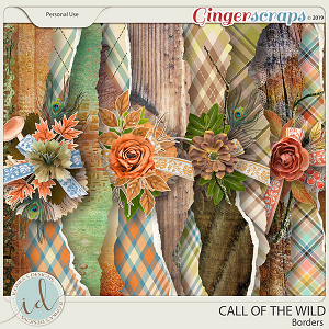 Call Of The Wild Borders by Ilonka's Designs