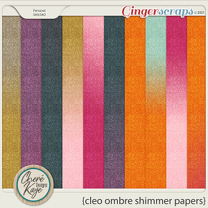 Cleo Ombre Shimmer Papers by Chere Kaye Designs