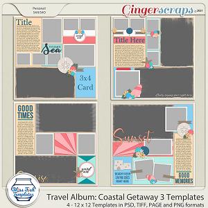 Travel Album Coastal Getaway 3 Templates by Miss Fish