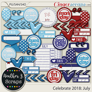 Celebrate 2018: July ACCENTS by Heather Z Scraps