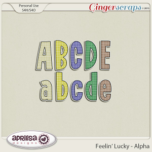 Feelin' Lucky - Alpha by Aprilisa Designs