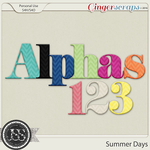 Summer Days Alphabets