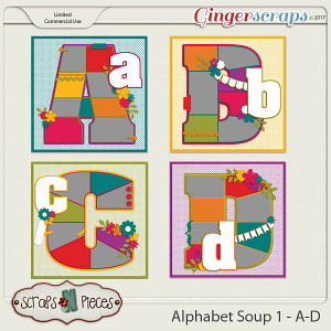 Alphabet Soup Template Pack 1 - A-D