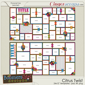 Citrus Twist Template Pack by BoomersGirl Designs