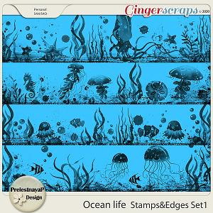 Ocean life Stamps & Edges Set1