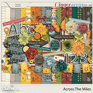 Across The Miles Digital Scrapbook Kit By Dandelion Dust Designs