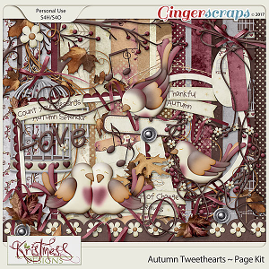 Autumn Tweethearts Page Kit