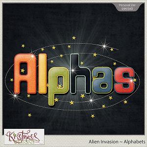 Alien Invasion Alphabets