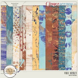 Free Spirit - Artsy Papers - by Neia Scraps