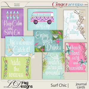 Surf Chic: Journal Cards by LDragDesigns
