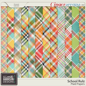 School Rulz Plaid Papers by Aimee Harrison