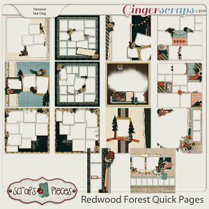 Redwood Forest Adventures Quick Pages by Scraps N Pieces