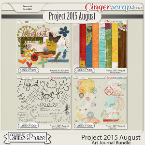Project 2015 August - Art Journal Bundle