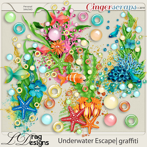 Underwater Escape: Graffiti by LDragDesigns