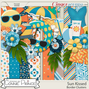 Sun Kissed - Border Clusters by Connie Prince