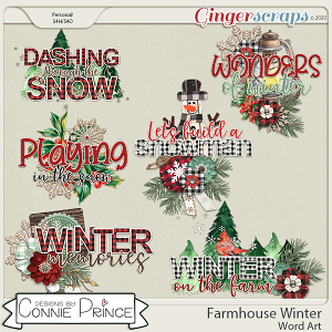 Farmhouse Winter - Word Art Pack by Connie Prince