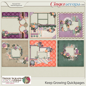 Keep Growing Quickpages by Trixie Scraps Designs