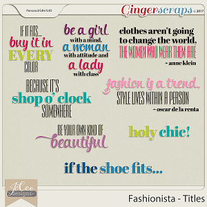 Fashionista Title Pack by JoCee Designs