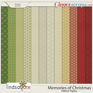 Memories of Christmas Pattern Papers by Lindsay Jane