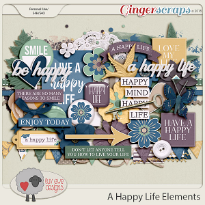 A Happy Life Elements by Luv Ewe Designs