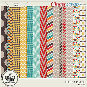 Happy Place Papers by JB Studio