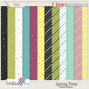 Spring Time Glitter Papers by Lindsay Jane