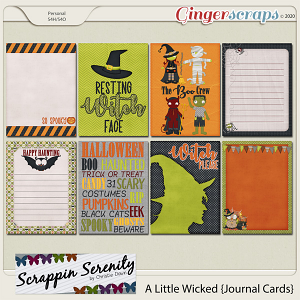 A Little Wicked Journal Cards