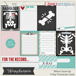 When I Grow Up- X Ray Technician Cards