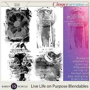 Live Life on Purpose Blendables by Karen Schulz