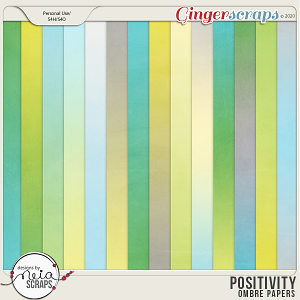 Positivity - Ombre Papers - by Neia Scraps