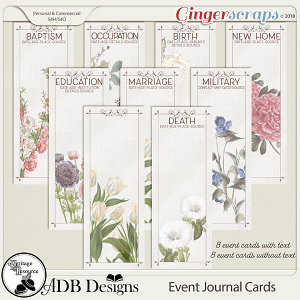 Heritage Resource - Event Journal Cards by ADB Designs