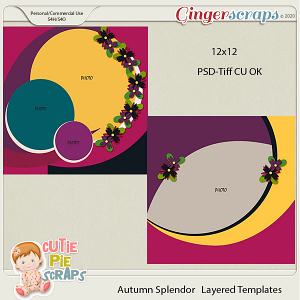 Autumn Splendor CU Template 12X12