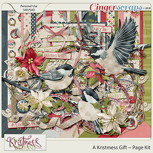 A Kristmess Gift Page Kit
