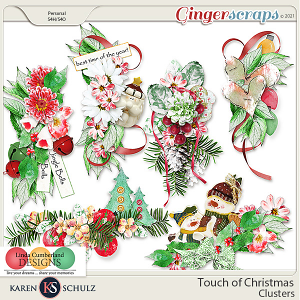 Touch of Christmas Clusters by Karen Schulz and Linda Cumberland