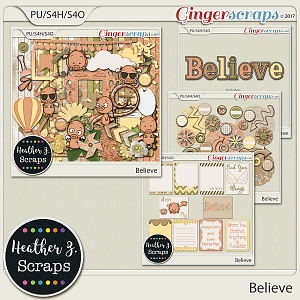 Believe BUNDLE by Heather Z Scraps