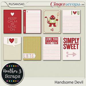 Handsome Devil JOURNAL CARDS by Heather Z Scraps