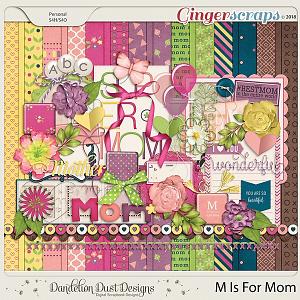 M Is For Mom Digital Scrapbook Kit By Dandelion Dust Designs