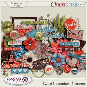 Sweet November - Elements by Aprilisa Designs