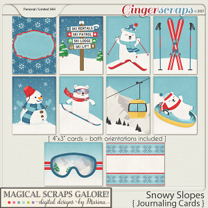 Snowy Slopes (journaling cards)