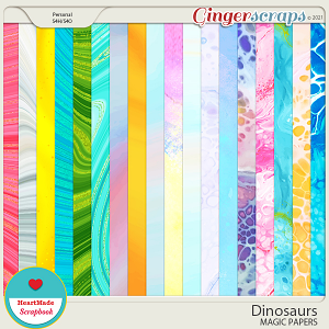 Dinosaurs - magic papers