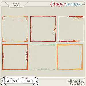 Fall Market - Page Edges by Connie Prince