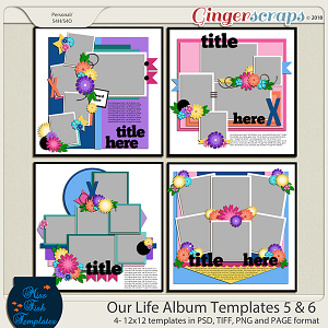 Our Life Templates 5 & 6 by Miss Fish Templates