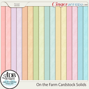 On the Farm Cardstock Solids by ADB Designs