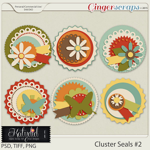 Cluster Seals Layered Templates Pack No 2
