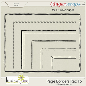 Page Borders Rec 16 by Lindsay Jane