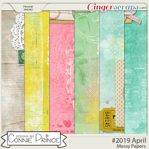 #2019 April - Messy Papers by Connie Prince