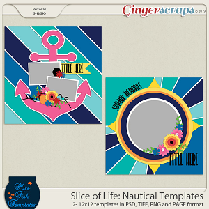 Slice of Life: Nautical Templates by Miss Fish
